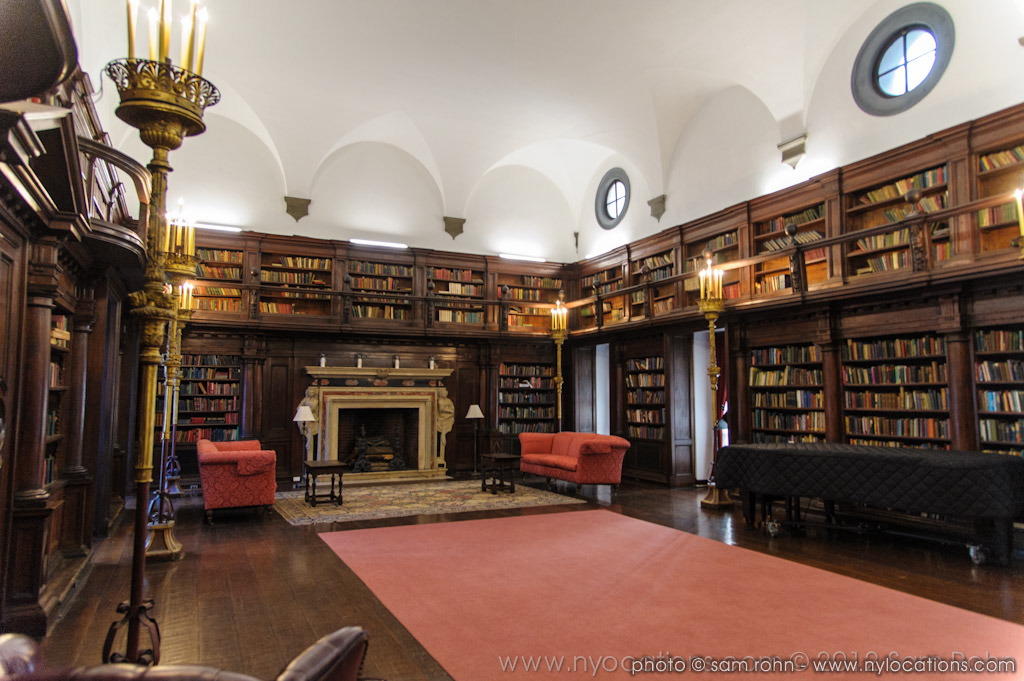 Mansion library film photography locations sam for Private library design